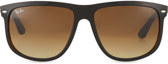 Ray-Ban Black on brown square sunglasses with brown tinted lenses RB4147 60