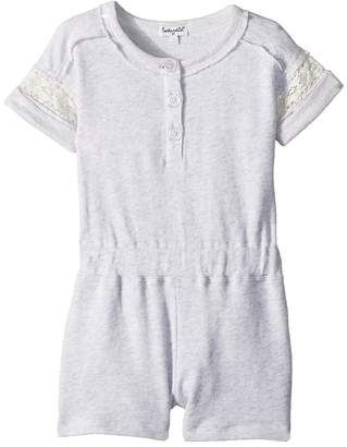 Splendid Littles French Terry Romper w/ Lace Girl's Jumpsuit & Rompers One Piece