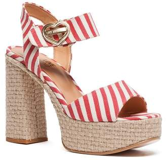 Love Moschino Striped Platform Heel