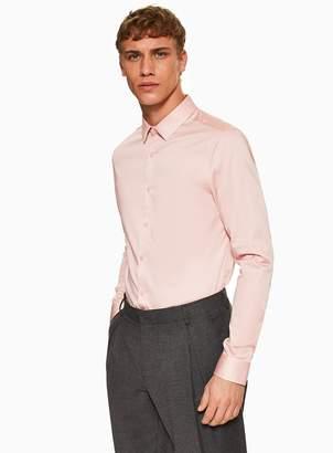 Premium Light Pink Stretch Skinny Shirt