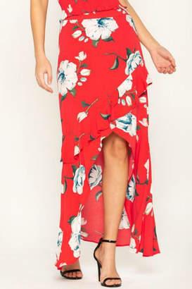Miss Me Floral-Stunner High-Low Skirt