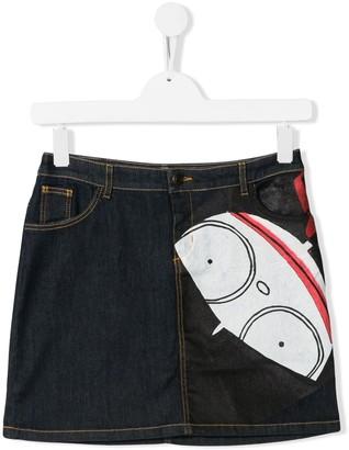 Little Marc Jacobs TEEN printed denim skirt