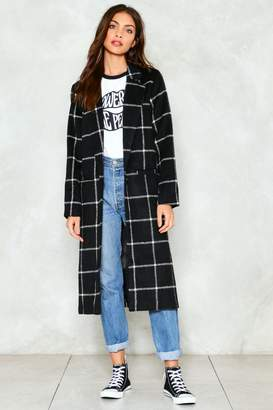 Nasty Gal Town Square Grid Coat
