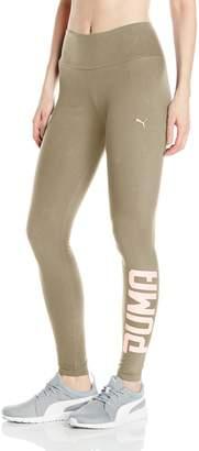 Puma Women's Athletic Leggings W, Black- Silver, XS