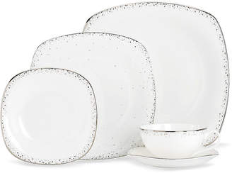Lenox Lifestyle Dinnerware, Silver Mist Square 5 Piece Place Setting