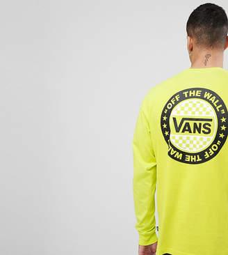 Vans Oversized Long Sleeve T-Shirt In Yellow Exclusive To ASOS