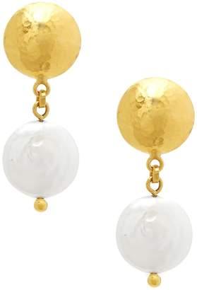 Gurhan Women's White Baroque Pearl & 24K Gold Drop Earrings