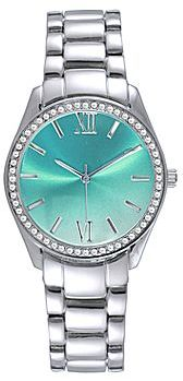 JCPenney Womens Silver-Tone Crystal-Accent Boyfriend Watch