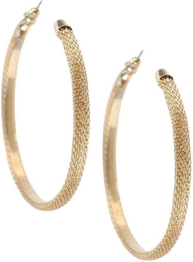 Snake Chain Hoop Earrings