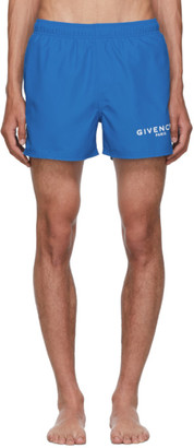 Givenchy Blue Logo Swim Shorts