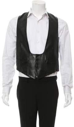 Saint Laurent 2013 Leather Suit Vest