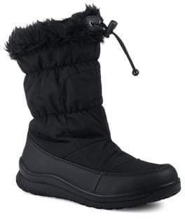 London Fog Jane II Nylon Faux Fur Winter Boots