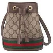 Gucci Women's Ophida Mini Bucket Bag - Beige Chocolate