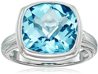 Sterling Silver and Topaz Square Cut