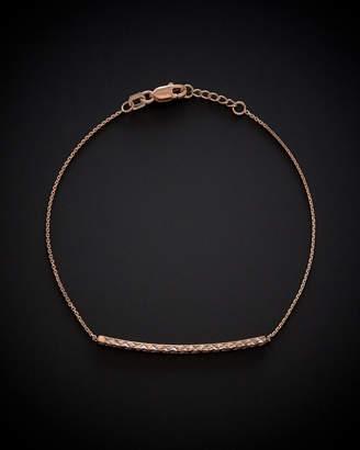 14K Italian Rose Gold Adjustable Bracelet
