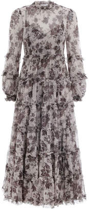 Zimmermann Juno Tiered Long Dress