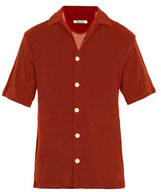 Hecho - Cotton Terry Short Sleeve Shirt - Mens - Red