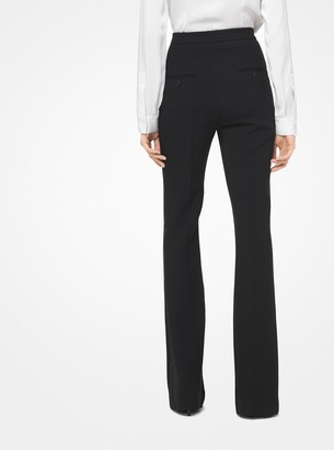 Michael Kors Double Crepe-Sable Tuxedo Trousers