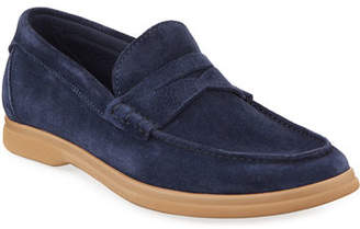 Brunello Cucinelli Men's Suede Penny Loafers