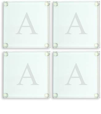 Cathy's Concepts Cathys Concepts Monogram 4-pc. Glass Coaster Set