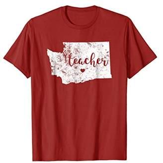 Teacher Red For Ed T-Shirt Washington Public Education