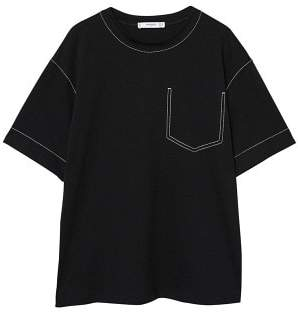 MANGO Decorative seam t-shirt