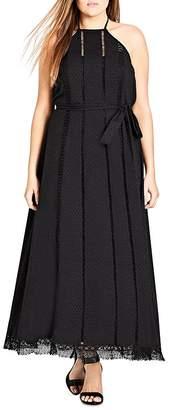 City Chic Plus Divine Weekend Halter Maxi Dress