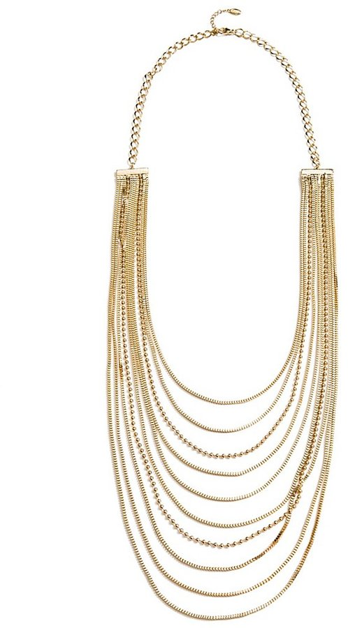 GUESS Gold-Tone Multi-Strand Chain Necklace