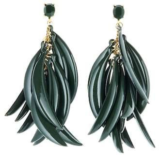 Oscar de la Renta Banana Leaf Drop Earrings