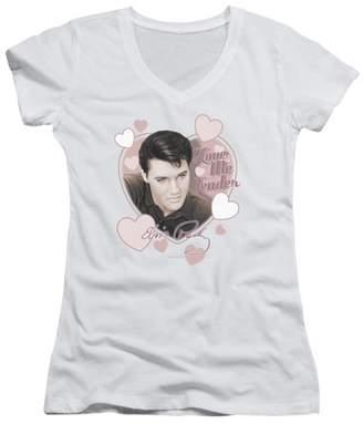 ELVIS PRESLEY Elvis Presley Love Me Tender Juniors V-Neck Shirt