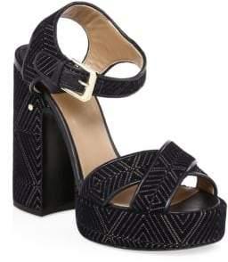 Laurence Dacade Rosange Velvet Platform Sandals
