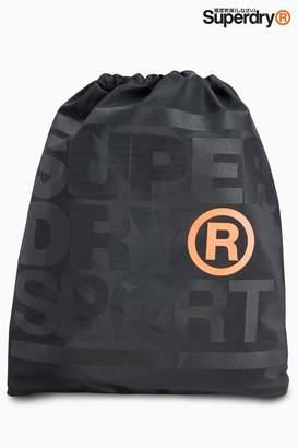 Next Superdry Black Drawstring Sports Bag
