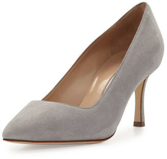 Manolo Blahnik BB Suede 70mm Pump $595 thestylecure.com