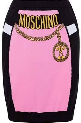 Moschino Intarsia Cotton Mini Skirt