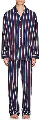 Derek Rose Men's Royal Striped Cotton Pajama Set