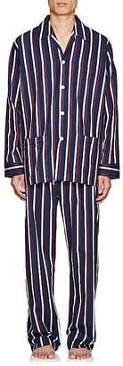 Derek Rose Men's Royal Striped Cotton Pajama Set