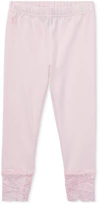 Polo Ralph Lauren Little Girls Lace-Cuff Jersey Leggings