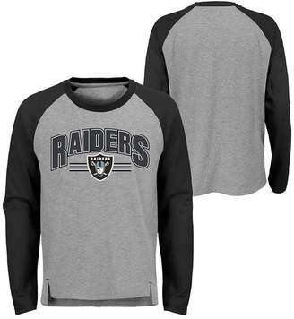 Outerstuff Oakland Raiders Audible Long Sleeve T-Shirt, Big Boys (8-20)