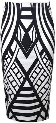 VIP Womens Monochrome Weaved Pattern Pencil Midi Skirt (Sty) (8/10 (uk), )