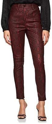 A.L.C. Women's Snake-Print Lambskin Skinny Jeans