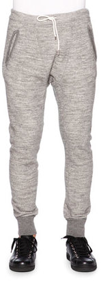 Dsquared2 Melange Drawstring Sweatpants, Gray $670 thestylecure.com