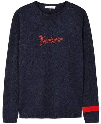 Bella Freud Forever Sparkle Metallic-knit Wool