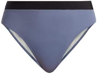Solid & Striped The Alexa High Rise Bikini Briefs - Womens - Light Blue