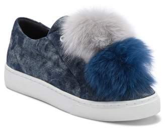 Here \u002F Now Joey Genuine Fox Fur Pompoms Sneaker