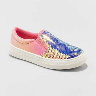 Cat & Jack Girls' Welda Flip Sequin Sneakers Pink