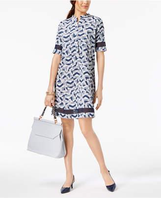 Alfani Crochet Trim Shirtdress, Created for Macy's
