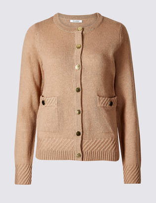 M&S Collection Lambswool Blend Textured Cardigan