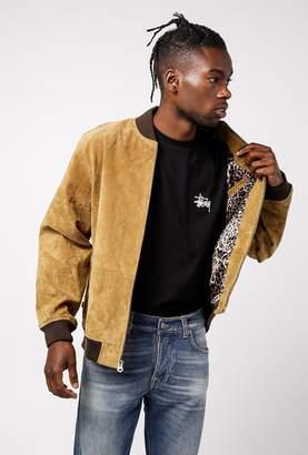 Obey Clifton Leopard Suede Jacket