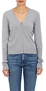 Barneys New York Women's Cashmere V-Neck Cardigan-Light Grey