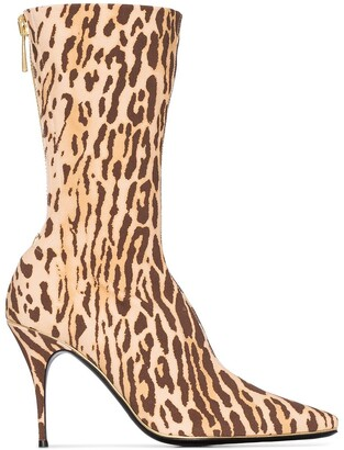 Zimmermann animal print mid-calf boots